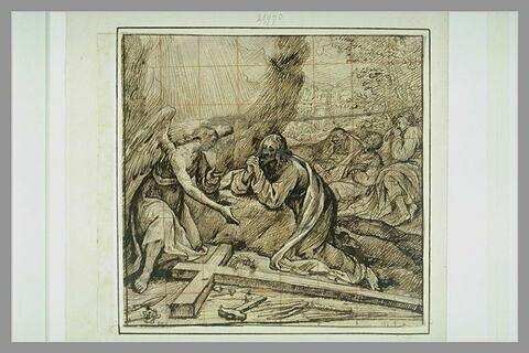 Apparition de l'ange à Jésus dans le Jardin des Oliviers