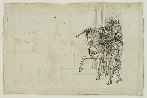 Deux figures et un cavalier
