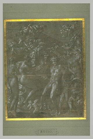 Mars désarmé par Cupidon, et Vénus dévêtue par les nymphes et les amours