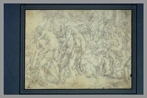 Amphinomus et Anapias sauvant leurs parents lors de l'incendie de Catane.