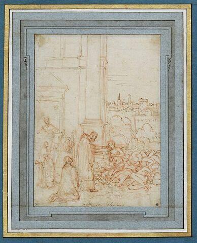 Saint Charles Borromée distribuant la communion lors de la peste de Milan