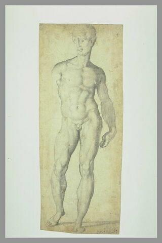 Jeune homme nu, étude pour une statue