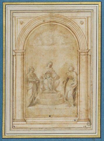 Sainte Conversation : Vierge à l'Enfant avec deux saints