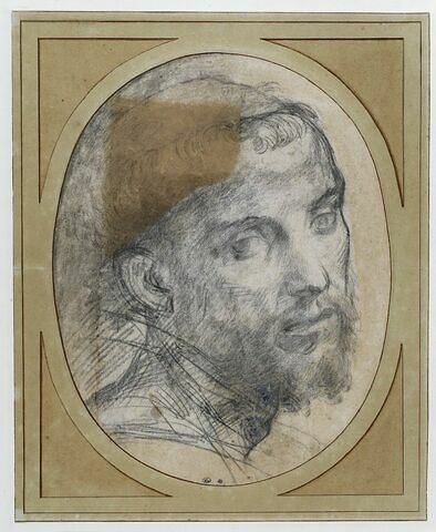 Etude pour une tête de saint François