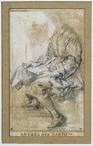 Homme drapé, assis, écrivant