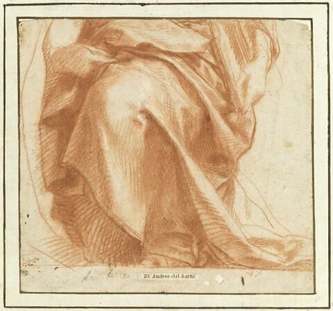 Etude de draperie pour une figure assise