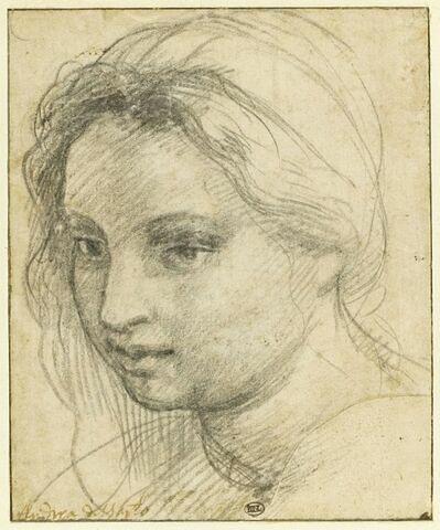 Tête de femme coiffée d'un turban et vue de trois quarts