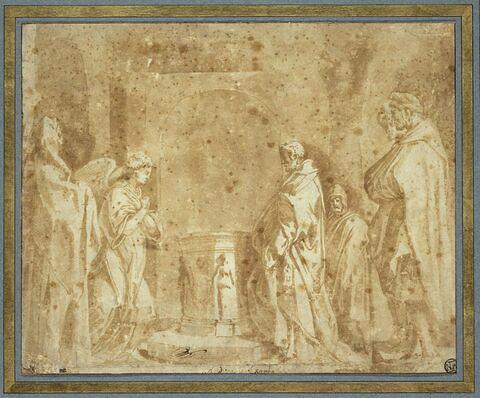 L'ange annonçant à Zacharie la naissance de saint Jean-Baptiste