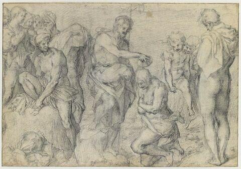 Saint Jean baptisant les Juifs dans le Jourdain