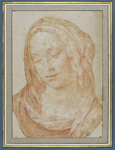 Tête de femme portant un voile