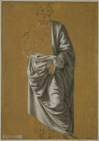 Etude de draperie pour la figure de saint Barthélemy