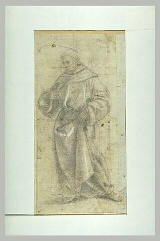 Un saint moine debout : saint François (?)