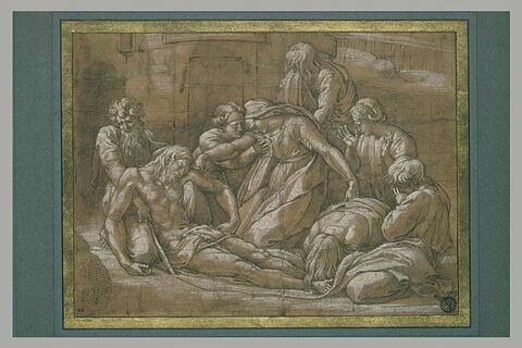 Déploration sur le Christ mort devant le tombeau
