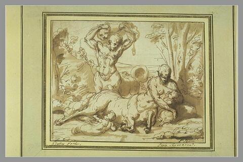 Centaure apporte une proie à sa famille