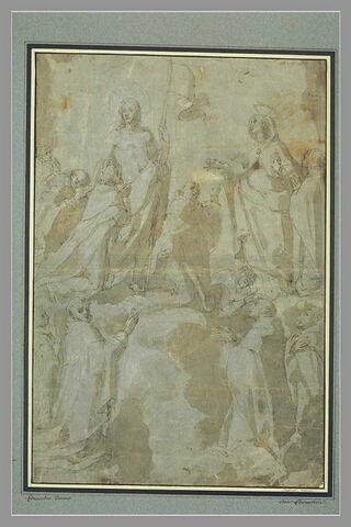 Le Christ apparaissant à des saints dominicains