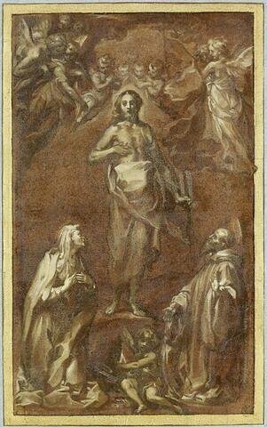 Le Christ ressuscité aparaissant à saint Silvestro Guzzolini et une sainte