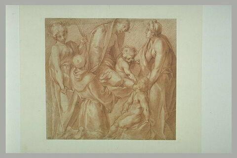 La Vierge et l'Enfant, le petit saint Jean, sainte Elisabeth, saint Antoine de Padoue et une sainte martyre