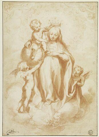 La Vierge couronnée par l'Enfant
