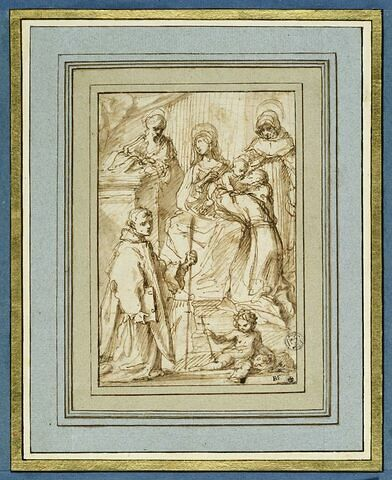 Vierge à l'Enfant avec quatre saints et le petit saint Jean Baptiste