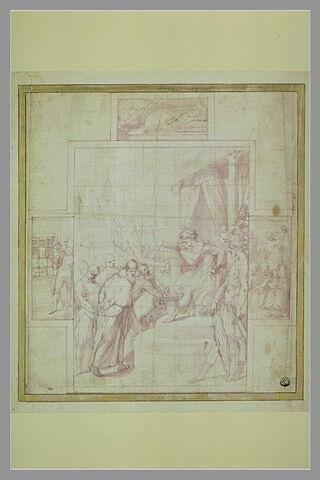 Le Pape saint Clément condamné par Trajan à être noyé