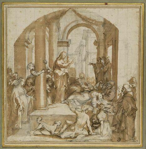 Sainte Catherine de Sienne guérissant une possédée