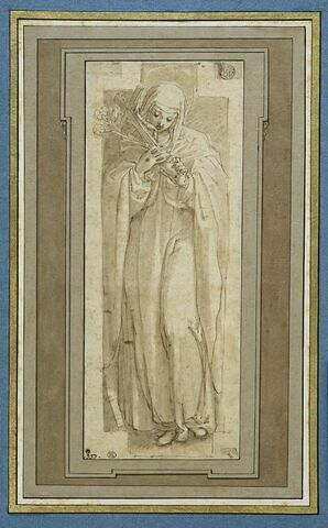 Sainte Catherine de Sienne adorant la Croix
