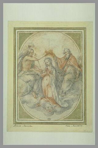 La sainte Trinité couronnant la Vierge