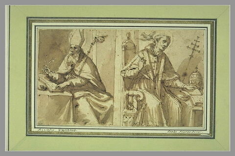 Deux docteurs de l'Eglise : saint Augustin et saint Grégoire