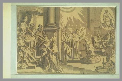 Scène de la vie de sainte Catherine