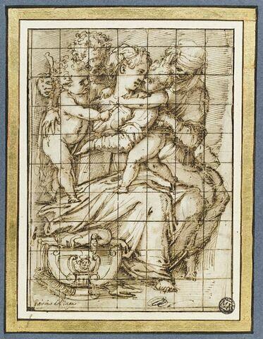 Sainte Famille avec saint Jean-Baptiste, sainte Anne ou sainte Elisabeth