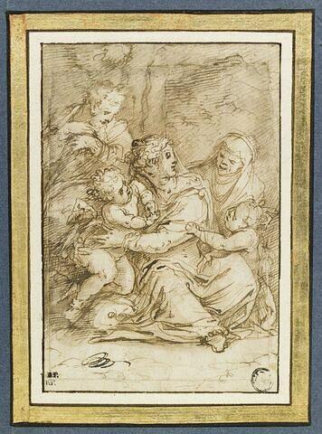 Sainte famille avec le petit saint Jean et sainte Elisabeth