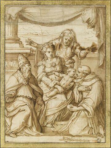 Vierge à l'Enfant avec saint Antoine de Padoue et saint Silvestre