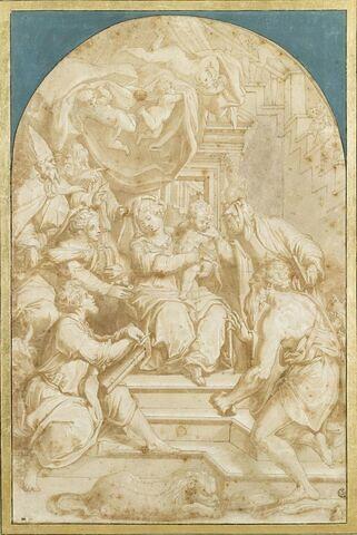 Vierge à l'Enfant trônant entourée de saints