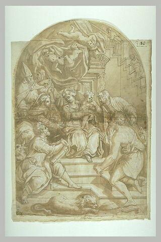 Vierge à l'enfant entourés de saints