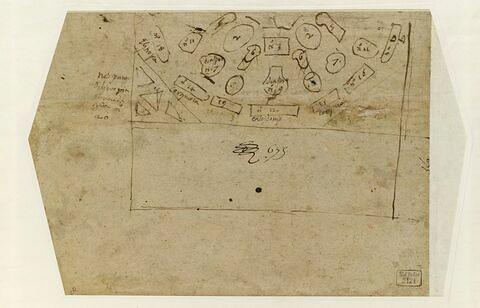 Plan de la moitié d'un octogone : une table