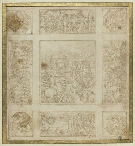 Etude pour le plafond de la salle du Pape Léon X