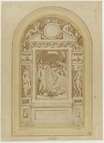 La résurrection de Lazare ; saint Georges ; sainte Mustiola