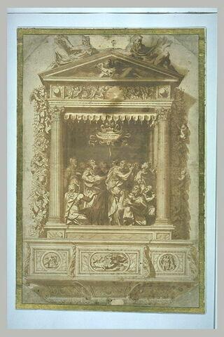 Projet pour une tribune d'orgue : David chantant le psaume XCI