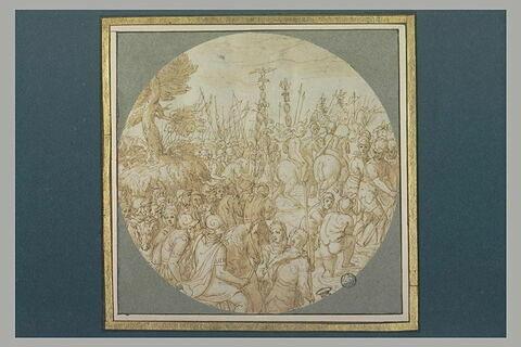 Une armée romaine traversant une rivière à gué
