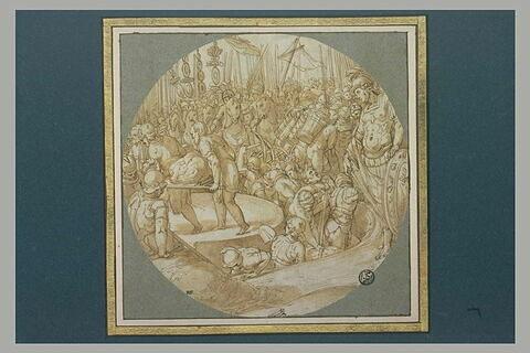 Armée romaine creusant une tranchée