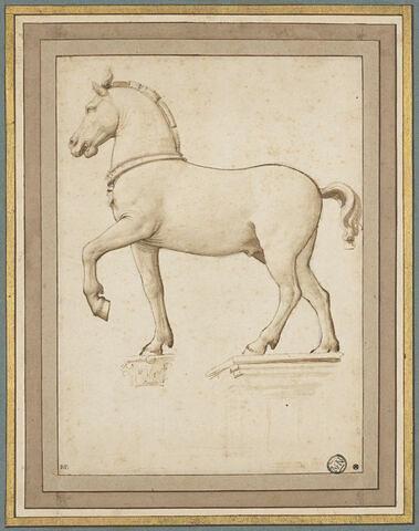 Etude d'après l'un des chevaux de la basilique Saint Marc, à Venise