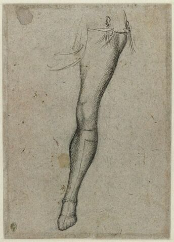 Une jambe gauche en bas de chausse