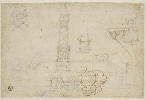 Deux études d'un édifice à plan central