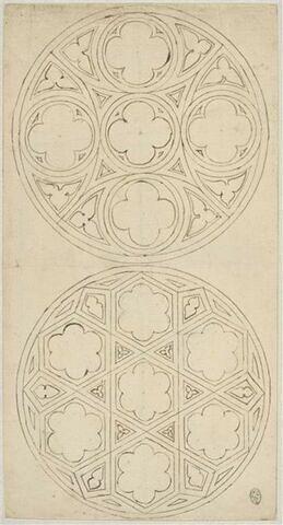 Deux rosaces de fenêtres gothiques