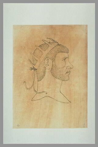 L'empereur Aurélien, couronné, de profil vers la droite
