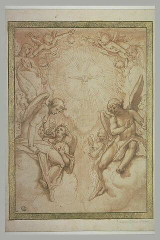 Le Saint Esprit au milieu d'une gloire d'anges