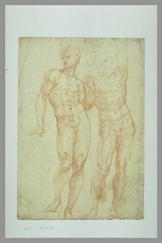Deux études d'homme nu debout