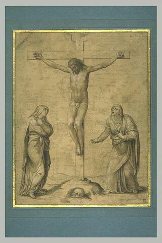 Le Christ en Croix entourée de la Vierge et de saint Jean