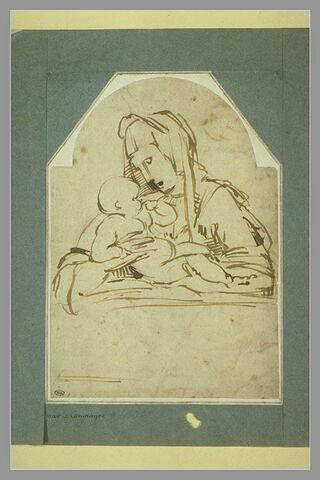Etude d'une Vierge à l'Enfant