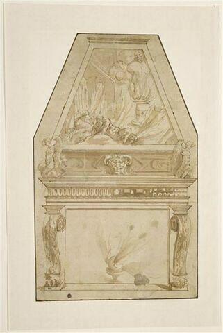 Etude de décoration pour une cheminée avec la mort des fils d'Aaron